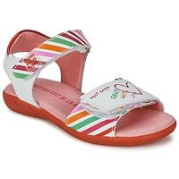 Buty Dziewczynka Sandały Agatha Ruiz de la Prada CAZOLETA Biały / Wielokolorowe