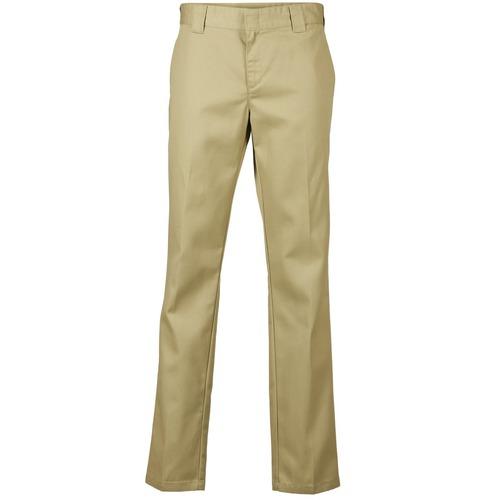 tekstylia Męskie Spodnie z pięcioma kieszeniami Dickies SLIM FIT WORK PANT Beżowy