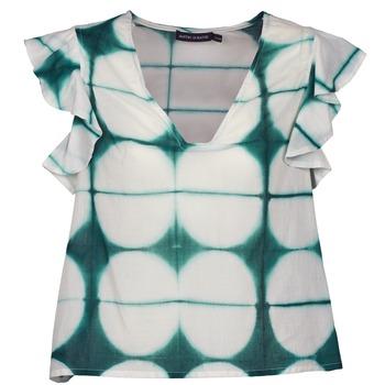 tekstylia Damskie T-shirty z krótkim rękawem Antik Batik BAB Biały / Zielony
