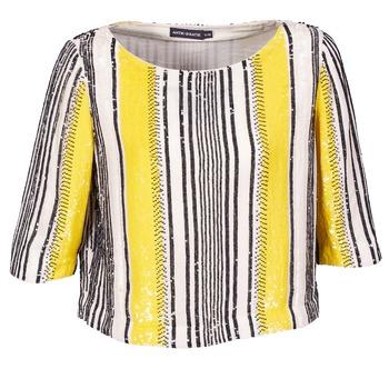 tekstylia Damskie Topy / Bluzki Antik Batik ZABOU żółty / Biały / Czarny