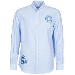tekstylia Męskie Koszule z długim rękawem Serge Blanco ANTONIO Niebieski