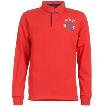 tekstylia Męskie Koszulki polo z długim rękawem Serge Blanco MATO Czerwony