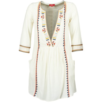 tekstylia Damskie Sukienki krótkie Derhy EMBOUCHURE Ecru