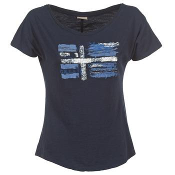 tekstylia Damskie T-shirty z krótkim rękawem Napapijri SINK Marine