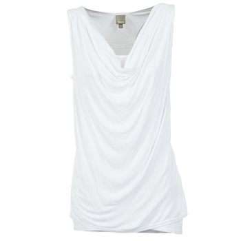 tekstylia Damskie Topy na ramiączkach / T-shirty bez rękawów Bench DUPLE Biały