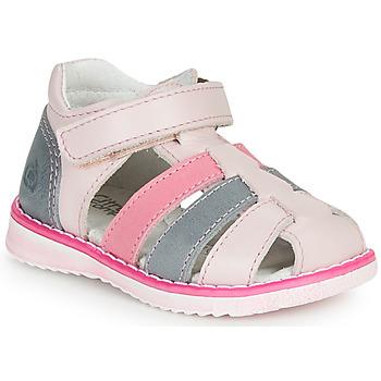 Buty Dziewczynka Sandały Citrouille et Compagnie FRINOUI Różowy / Niebieski / CLAIR / Fuksja