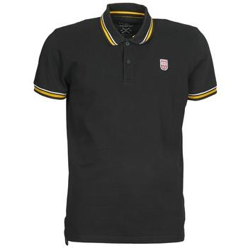 tekstylia Męskie Koszulki polo z krótkim rękawem Pepe jeans JIMMY Czarny