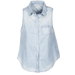 tekstylia Damskie Koszule z krótkim rękawem Pepe jeans POCHI Niebieski