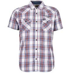 tekstylia Męskie Koszule z krótkim rękawem Petrol Industries SHIRT SS Biały / Czerwony