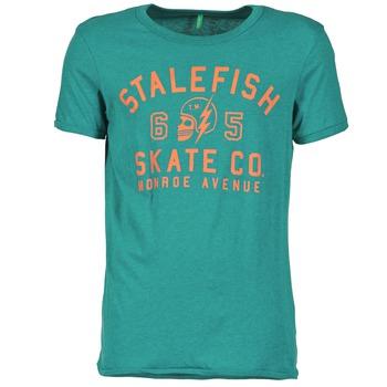 tekstylia Męskie T-shirty z krótkim rękawem Benetton IXIDINE Zielony