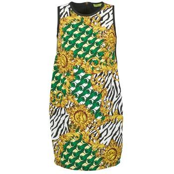tekstylia Damskie Sukienki krótkie Versace Jeans NDM909 BIS Czarny / Wielokolorowe