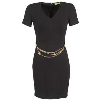 tekstylia Damskie Sukienki krótkie Versace Jeans NDM911 EASY Czarny