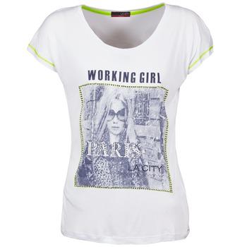 tekstylia Damskie T-shirty z krótkim rękawem La City TMCD3 Biały