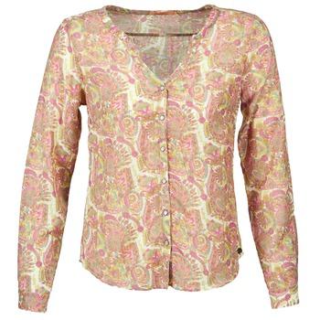 tekstylia Damskie Koszule DDP GARDENIA Różowy / Zielony