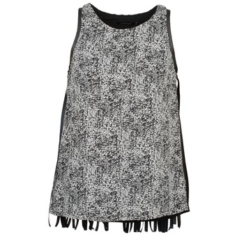 tekstylia Damskie Topy na ramiączkach / T-shirty bez rękawów Color Block PINECREST Szary / Czarny / Biały