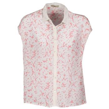 tekstylia Damskie Koszule z krótkim rękawem Lola CANYON Biały / Czerwony