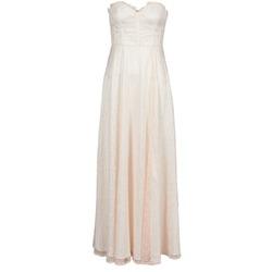 tekstylia Damskie Sukienki długie Manoukian 613346 Różowy / Beżowy