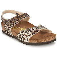 Buty Dziewczynka Sandały Birkenstock RIO Leopard / Brązowy