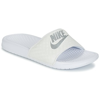 Buty Damskie Klapki Nike BENASSI JUST DO IT W Biały / Argenté