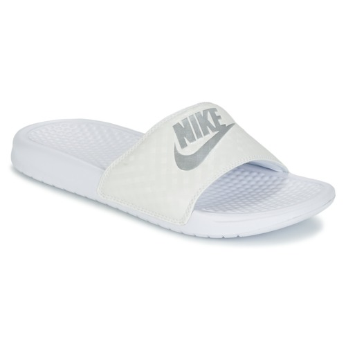 Buty Damskie klapki Nike BENASSI JUST DO IT W Biały / Srebrny