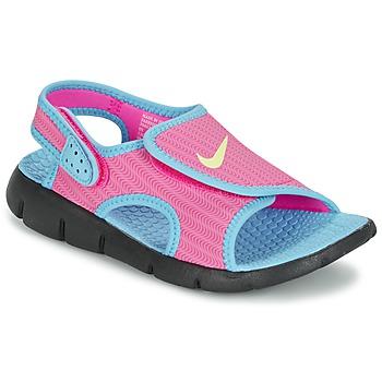 Buty Dziewczynka Sandały Nike SUNRAY ADJUST 4 Różowy / Niebieski