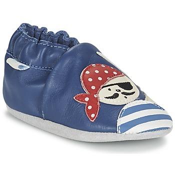 Buty Chłopiec Kapcie niemowlęce Robeez JOLLY PEG Niebieski