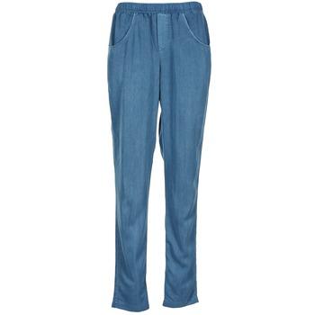 tekstylia Damskie Spodnie z lejącej tkaniny / Alladynki Vero Moda AMINA Niebieski