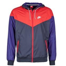 tekstylia Męskie Kurtki wiatrówki Nike WINDRUNNER MARINE / Czerwony / Niebieski