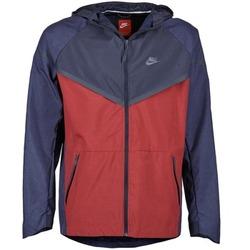 tekstylia Męskie Kurtki wiatrówki Nike TECH WINDRUNNER Czerwony / Marine / Szary
