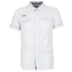 tekstylia Męskie Koszule z krótkim rękawem Deeluxe ISLANDO Biały