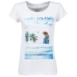 tekstylia Damskie T-shirty z krótkim rękawem Deeluxe TRYP GIRL Biały
