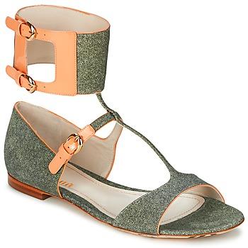 Buty Damskie Sandały John Galliano A65970 Zielony / Beżowy