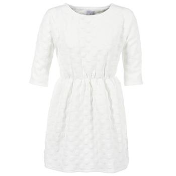 tekstylia Damskie Sukienki krótkie Compania Fantastica FRENE Biały