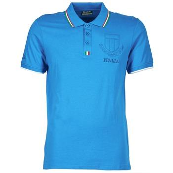 tekstylia Męskie Koszulki polo z krótkim rękawem Kappa OMER Niebieski