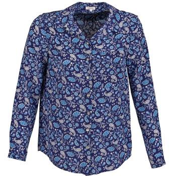 tekstylia Damskie Koszule Manoush BANDANA SILK Niebieski
