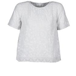 tekstylia Damskie T-shirty z krótkim rękawem Manoush COTONNADE SMOCKEE Biały