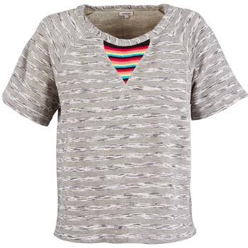 tekstylia Damskie T-shirty z krótkim rękawem Manoush ETNIC SWEAT Szary