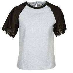 tekstylia Damskie T-shirty z krótkim rękawem Manoush FANCY Szary / Czarny