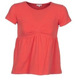 tekstylia Damskie T-shirty z krótkim rękawem Manoush MOLLETON Koral