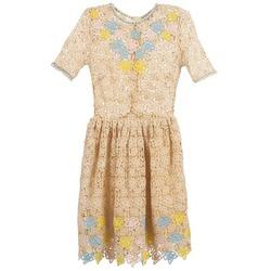 tekstylia Damskie Sukienki krótkie Manoush ROSES Ecru