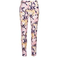 tekstylia Damskie Spodnie z pięcioma kieszeniami Gant 414705 Różowy / Niebieski