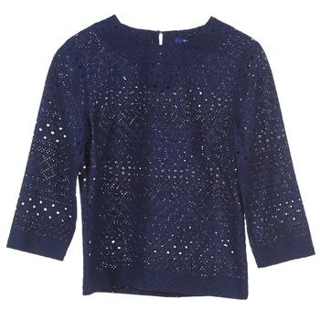 tekstylia Damskie Topy / Bluzki Gant 431951 Niebieski