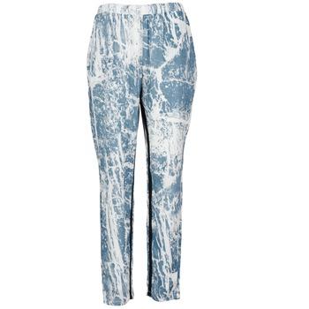 tekstylia Damskie Spodnie z lejącej tkaniny / Alladynki Vila GRUNGE ME Niebieski / Biały