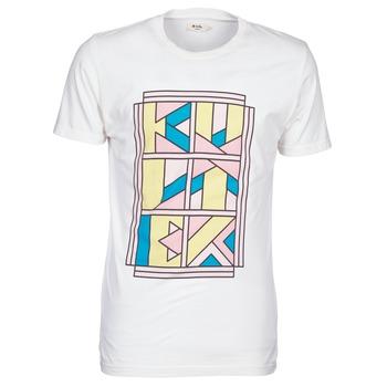 tekstylia Męskie T-shirty z krótkim rękawem Kulte ANATOLE BLOCK Biały