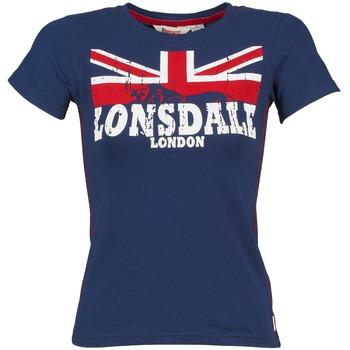 tekstylia Damskie T-shirty z krótkim rękawem Lonsdale ERYKAH Niebieski