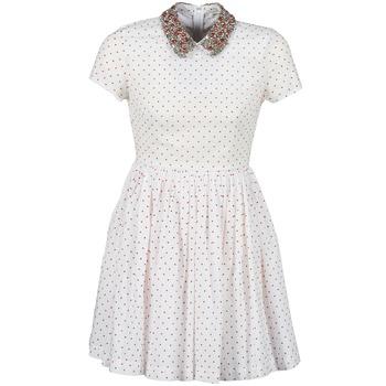 tekstylia Damskie Sukienki krótkie Manoush PLUMETIS STRASS Biały / Czerwony