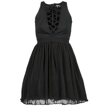 tekstylia Damskie Sukienki krótkie Manoush MARILACET Czarny