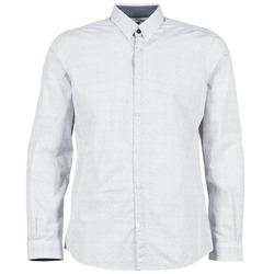 tekstylia Męskie Koszule z długim rękawem Tom Tailor MARCHALO Biały / MARINE