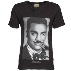 tekstylia Męskie T-shirty z krótkim rękawem Eleven Paris MARLTON M Czarny