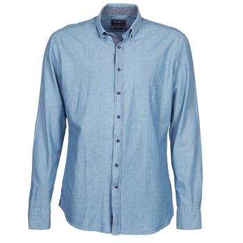 tekstylia Męskie Koszule z długim rękawem Hackett RILEY Niebieski